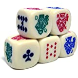 Poker Dice Pack 5 Dice by Brybelly