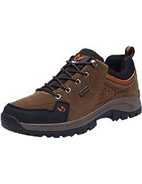 FOANA Zapatos de Senderismo para Hombres Zapatos para Escalar Zapatos de Trekking al Aire Libre Zapatos Casuales de montaña