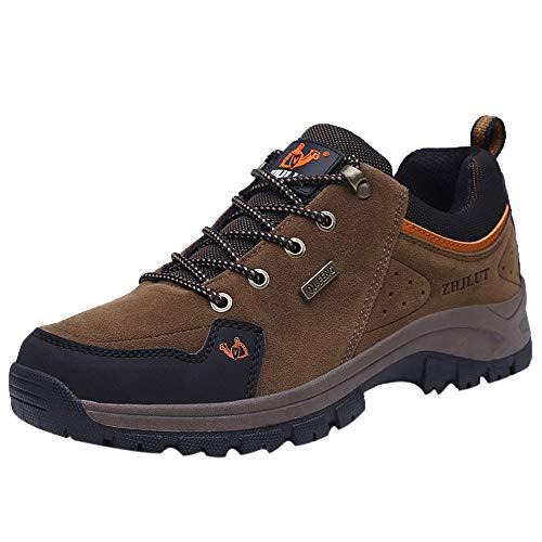 Manadlian Wanderschuhe Herren, Männer Low Top Trekkingschuhe Kletterschuhe Atmungsaktive Rutschfeste Turnschuhe Kletterschuhe Draussen Trekkingschuhe Bergfreizeitschuhe
