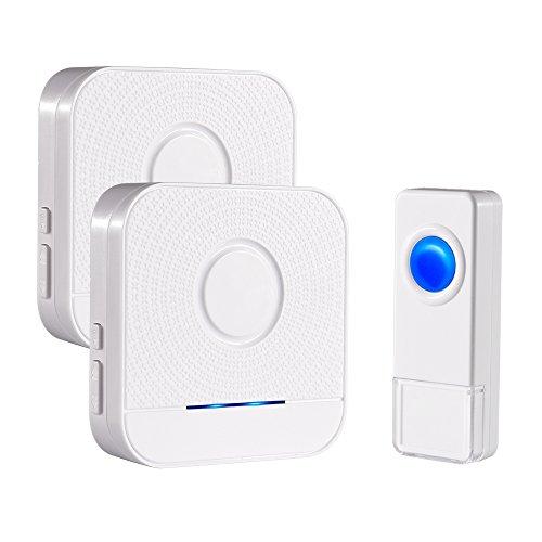 Wireless Doorbell, Bitiwend Waterproof Doorbells 1000-feet Range, 52 Chimes Optional, 4 Level Volume, LED Indicator