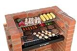 Brick BBQ kit con griglie di cottura in acciaio INOX + cremagliera di riscaldamento + sacca conforme a BS EN 1860: 2013–1per la progettazione di sicurezza e qualità Bkb 404