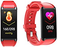 LCARE Mambo Fitness Band Pedometer, HR and BP, Sleep Tracker, Smart Activity Tracker Call Alert for Android an