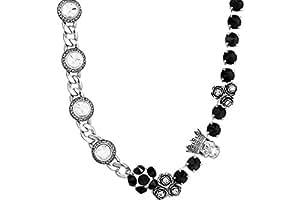 Reminiscence Collier Glam Rock, métallisation en argent, cristal Swarovski
