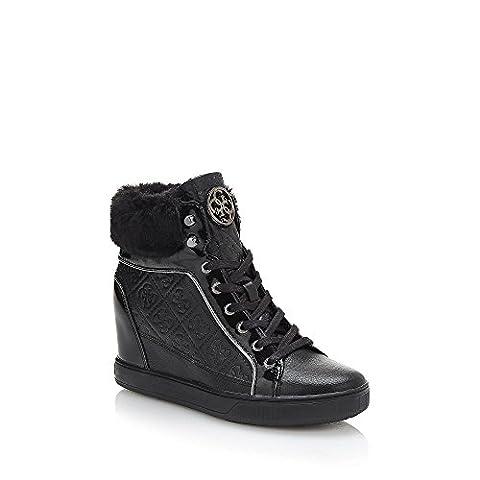 Chaussures Femme Guess - Guess Fur, Bottes Classiques Femme, Noir (Nero),