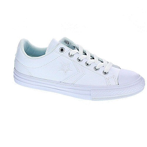 Converse Star Player Junior 3V Leather Mid Baskets mode mixte enfant ... 6ccf74d14e9