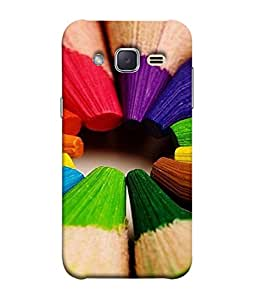 Fuson Designer Back Case Cover for Samsung Galaxy J2 J200G (2015) :: Samsung Galaxy J2 Duos (2015) :: Samsung Galaxy J2 J200F J200Y J200H J200Gu (Sharp Pointed Pencil Drawing Children Child School )