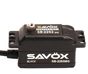 SAVOX 0.076/138.9 Black Edition - Servo Digital (6,0 V, sin escobillas), Color Negro