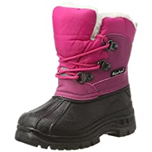 Playshoes Unisex Kid's Warm Lining Snow Shoes Winter Boots, Pink (Pink 18), 10.5 UK Child 28/29 EU