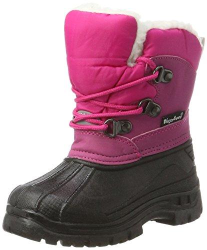 Playshoes Winter-Bootie für Kinder, gefütterte Kinder-Schneestiefel zum Schnüren