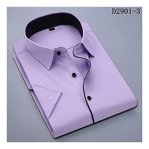 2019 New Casual Men's Short Sleeve Shirt Slim Fit Design Style Social Business Dress Shirts - Pacific Twill Shirt