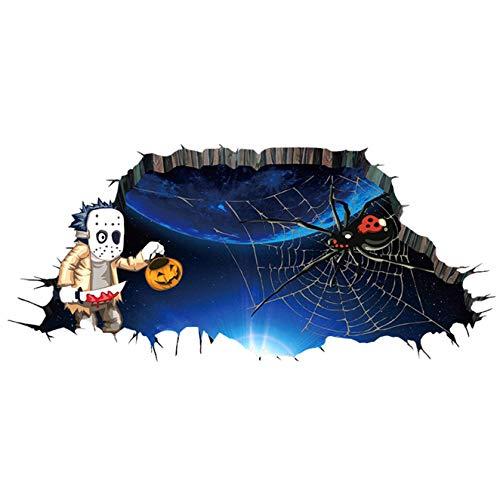 Halloween-3D-Wandaufkleber, Horror-Horrible, entfernbar, Selbstklebende Wandaufkleber, für Esszimmer, Schlafzimmer, Fenster, Dekoration für Zuhause - Afh1102 ()