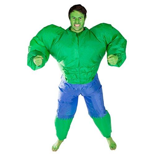 Aufblasbarer Hulk Erwachsenenkostüm