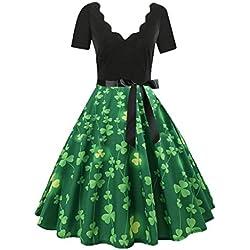 ZzZz Robe Vintage rétro 1950's Audrey Hepburn Robe de soirée Cocktail année 50 Rockabilly