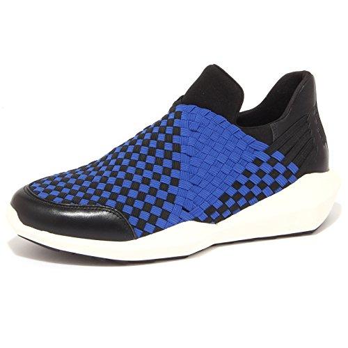 9013P sneaker donna ASH QUARTZ BLACK & SAPHIR ELASTIC sleep on shoe woman [39]