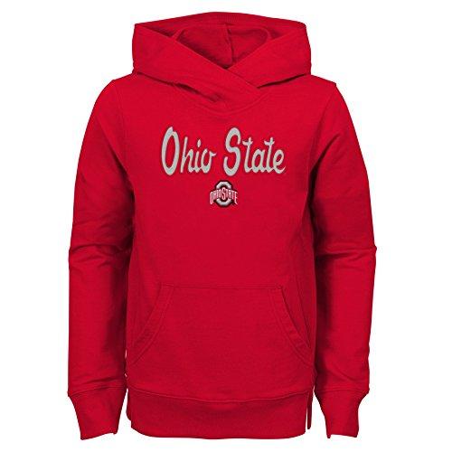 NCAA Ohio State Buckeyes Youth Girls Overlay Hoody Claim to Fame für Jugendliche, Mädchen, Größe XL, Rot (Ohio State Hoody)