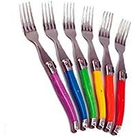 LAGUIOLE 6 fourchettes Ambiance couleurs vives, pour tous les jours. Présenté dans leur coffret vitrine. Créez l…