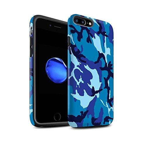 STUFF4 Matte Harten Stoßfest Hülle / Case für Apple iPhone 6S / Weiß 1 Muster / Armee/Tarnung Kollektion Blau 4