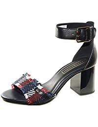 Tommy Hilfiger Tommy Raffia Heeled Sandal, Sandalias con Plataforma para Mujer