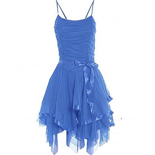 Janisramone - Robe - Robe de cérémonie - Sans Manche - Femme * taille unique bleu ciel