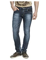 La MODE Men Navy Blue Slim Fit Jeans - B00W9Z1EJU