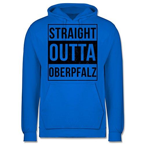 Oberpfalz Männer - Straight Outta Oberpfalz Schwarz - JH001 Herren Kapuzen Pullover  Himmelblau
