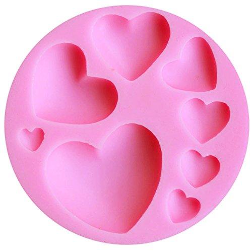 Blue Vessel 3D DIY Herz-Fondant-Form-Silikon-Kuchen Dekorieren Craft Zucker Schokoladen-Form (3d-herz-silikon-schokoladen-form)