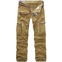 Celucke Cargohose Herren Pure Vintage Cargo Hose mit 7 Taschen, Männer  Freizeithose Chinos Militär Army d5e57718e9