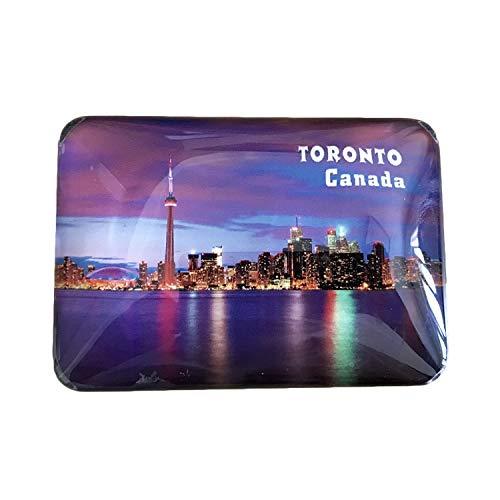 3D Kanada Toronto Kühlschrank Kühlschrankmagnet Kristall Glas Magnet Handmade Tourist Travel Souvenir Sammlung Geschenk Whiteboard Magnetischen Aufkleber Dekoration