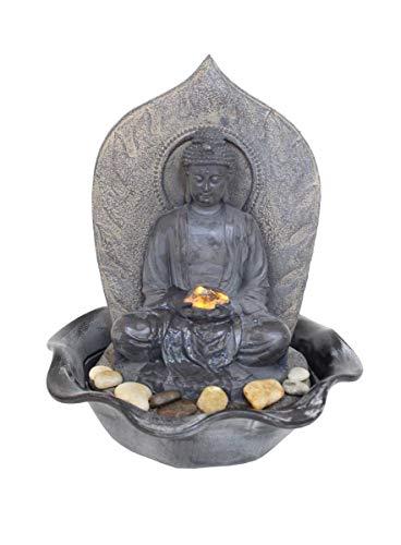 Kiom Zimmerbrunnen, Dekobrunnen, warmweiße LED, antikfinish, FoBuddha, 10465 (Springbrunnen Buddha Wasser)