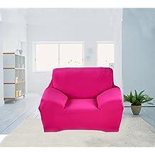 Moderno Suave sólido sillón Homen Stretch sofá funda de almohada sofá funda protectora Protector (único, Rosa)