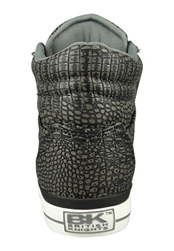 British Knights DEE DAMEN HIGH-TOP-SCHUH SNEAKER DK Grey Croco