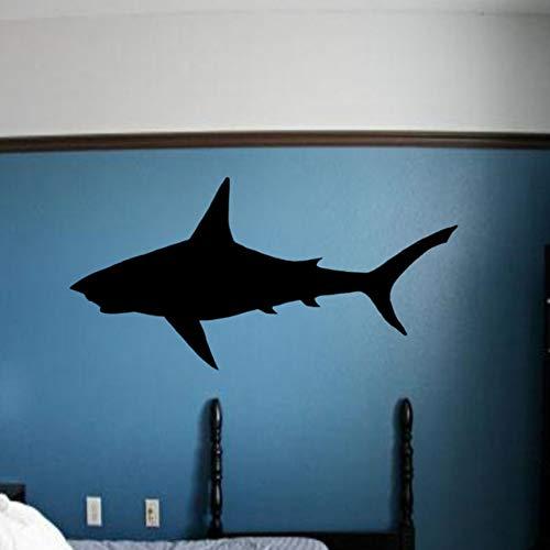 Zxdcd Great White Shark Wandaufkleber Schlafzimmer Removable Home Decoration Wandtattoos Vinyl Tier Silhouette Wand-Dekor 118 * 59 Cm