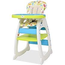 Festnight Silla para Bebe Trona Convertible 3 en 1 con Mesa para Bebé y Niños azul