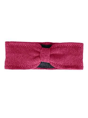 Zwillingsherz Stirnband mit Kaschmir - Hochwertiges Strick-Kopfband für Damen Frauen Mädchen - Uni - Mit Fleece - Wolle - Ohrenschutz - Haarband - warm - weich für Winter und Frühjahr pink