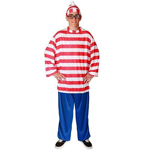 Waldo Comic Herrenkostüm (Wo Ist Waldo Kostüme)