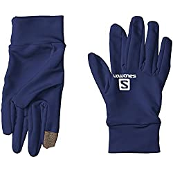 Salomon Agile Glove U Guantes de Corriendo Ligeros, Unisex Adulto, Azul (Medieval Blue), L