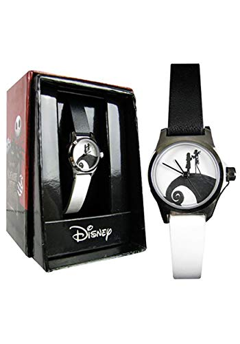 Entertainment Earth Distribution Nightmare Before Christmas Watch Black & White Strap Standard (Town Silhouette Halloween)