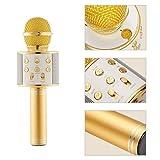 Diuspeed Microphone, Karaoke Senza fili Dispositivo Bluetooth Karaoke con microfono Holiday Gifts Compleanno Altoparlante Macchina per Android iPhone iPad Sony PC