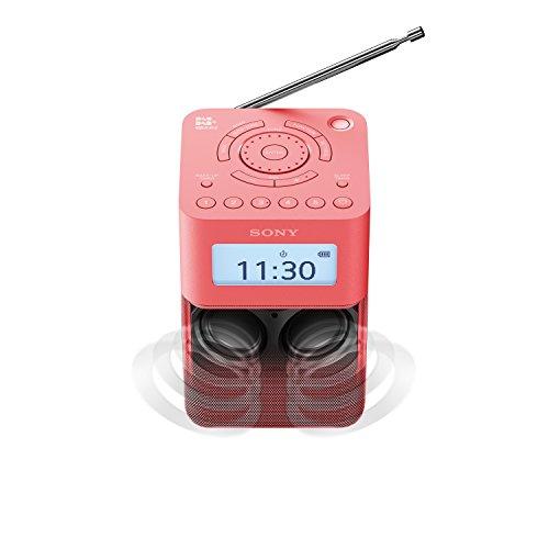 Sony XDR-V20D DAB/DAB+/UKW Radio mit Stereo Lautsprecher (10 Senderspeicher, platzsparendes Design, Akku- & Netzbetrieb, Timer-Weckfunktion) Pink