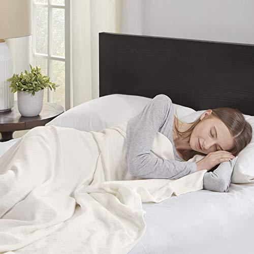 Madison Park Premier Komfort Liquid Baumwolle Decke, Full/Queen, elfenbeinfarben - Premier Queen Baumwolle