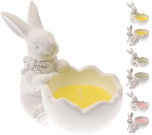 2 Stück Osterkerze Hase - Kerzenhalter Hase