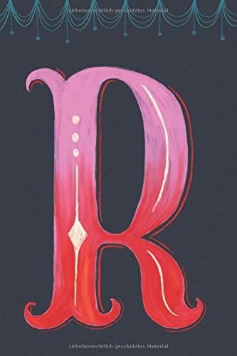 Notizbuch Monogramm: Personalisiertes Journal gepunktet mit Initial, Design Letters Buchstabe R