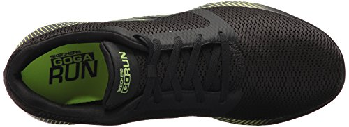 Skechers Go Run 600-Spectra, Chaussures de Fitness Homme Noir (Black/lime)