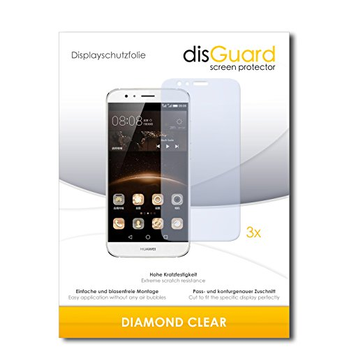 3 x disGuard® Schutzfolie Huawei G7 Plus Bildschirmschutz Folie