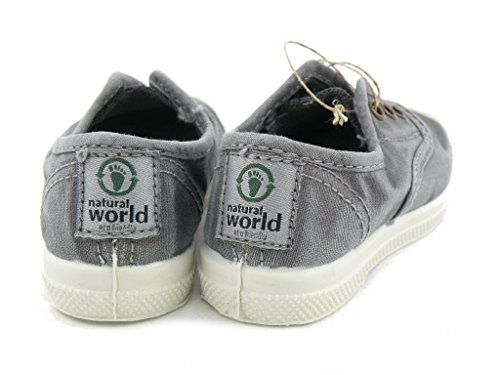 NATURAL WORLD - 470E - MODELE VEGAN GRIS ENZI