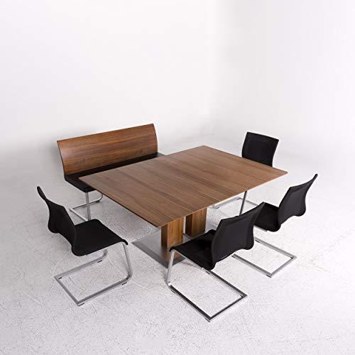 Team 7 Stretto Magnum Designer Esszimmer Garnitur Holz Braun 1x Tisch 1x Sitzbank 4X Stuhl #9847 - Holz-team Stuhl