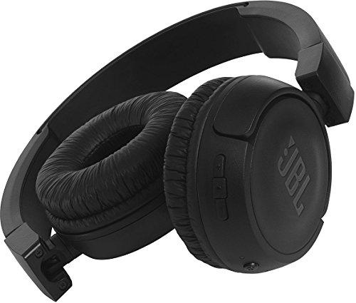 JBL T450BT Kabelloser On-Ear Bluetooth Kopfhörer mit Integrierter Musiksteuerung und Mikrofon Kompatibel mit Apple und Android Geräten -Schwarz - 3