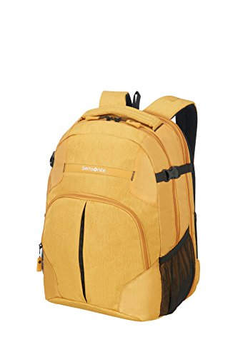 SAMSONITE Rewind - Laptop Backpack L Expandable Mochila tipo casual, 45 cm, 29 liters, Amarillo (Sunset Yellow)