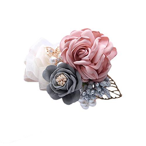 Leisial. Hochzeit Braut Handgelenk Blume Hochzeit Handgelenk Corsage Blume Armband Braut Accessoires 10 * 8CM C