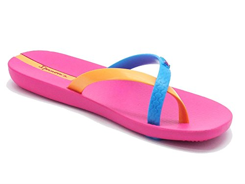 Ipanema  81137 Mix Color Fem FF Pink/Blue/Orange, Tongs pour femme Multicolore Multicolore Multicolore - Pink/Blue/Orange